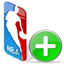 favorite, nba, sport, plus, add, basketball icon
