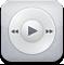 ipod, white, play, music, itunes icon