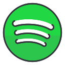 communication, entertainment, network, social, media, spotify icon