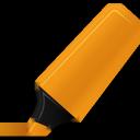 highlightmarker, orange icon