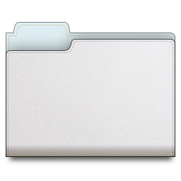 leather, white, folder icon