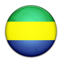 flag, gabon, country icon