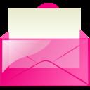 mail,pink,envelop icon