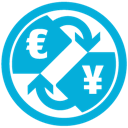 Currency, e, j icon