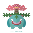 pokemon, venasaur, kanto, grass icon