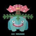pokemon, venasaur, kanto, grass icon