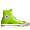 dirty, lime, converse icon