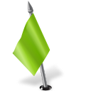 Map Marker Flag 2 Left Chartreuse icon