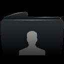 Black, Folder, User icon
