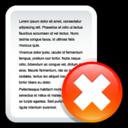 file,delete,del icon