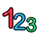 calculate, numbers, number, math, education icon