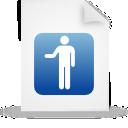 document, blue, file, paper icon