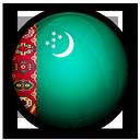 turkmenistan, of, flag icon