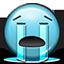 smiley face, smiley, crying river, sad, emot, crying icon