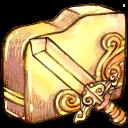 sword, folder icon