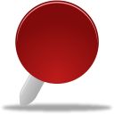 red, pin icon