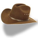 hat, cowboy, brown icon