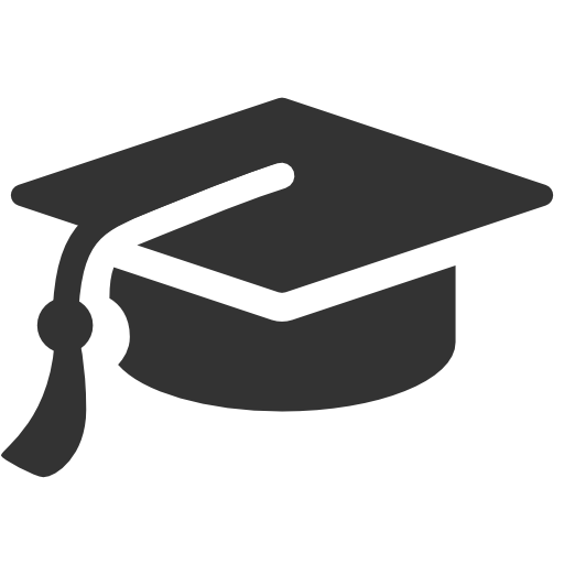 graduation, cap icon