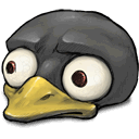 look, tux, worried icon