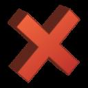 del, delete, remove icon