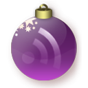 feed, purple, subscribe, rss, christmas icon