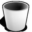 white, trash, empty icon