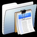 folder, documents, stripped, graphite icon