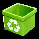 trash green empty icon