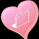 heart, valentine, love, folder icon