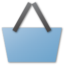 commerce, blue, shopping cart, cart, basket, shopping, buy icon