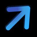blue, upright icon