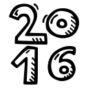 new year, celebration, party icon