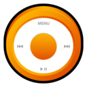 ipod,orange,badge icon