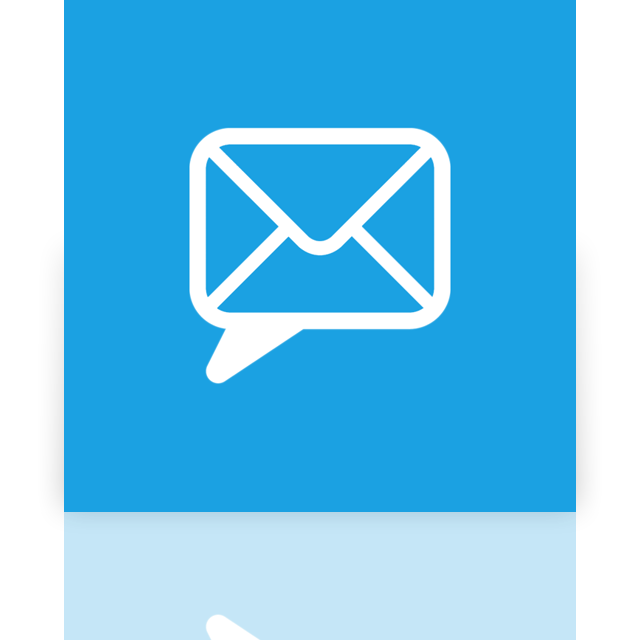 email, mirror, chat icon