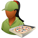 Dark, Female, Pizzadeliveryman icon
