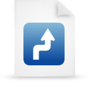 paper, document, file, blue icon