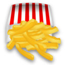 fast food, fries, french, 128 icon