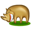 cartoon, animal, rhinoceros icon