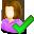 accept, female, user icon