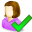 user, woman, accept, person, people, female, account, profile, human, member icon