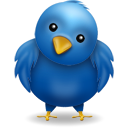 blue, animal, twitter, bird icon