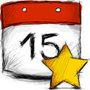 starred, date icon