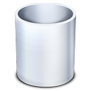 trash, empty, garbage, recycle bin icon