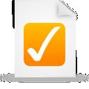 file, document, orange, paper icon
