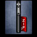 zip,silver,blue icon
