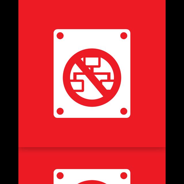 drive, offline, network, mirror icon
