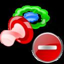 Delete, Pacifier icon