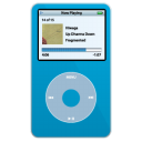 ipod, video, blue icon