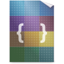 css, text icon