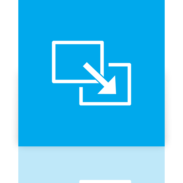 full, mirror, screen, exit icon